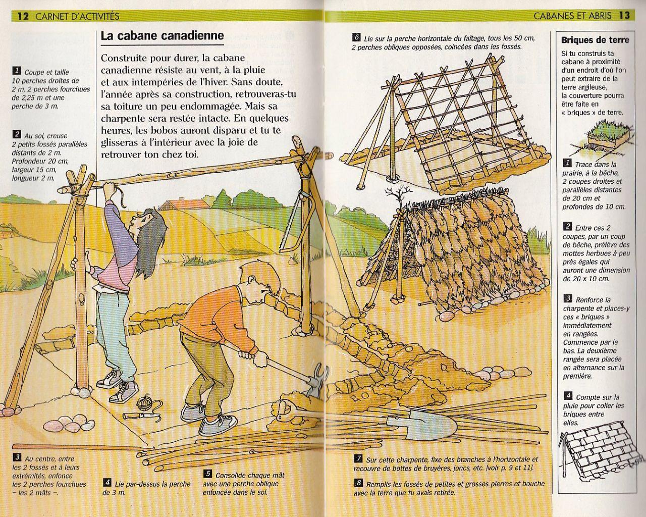Plan de construction de la hutte canadienne